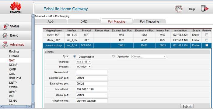 Abrir puertos en el HG532c - BandaAncha.st